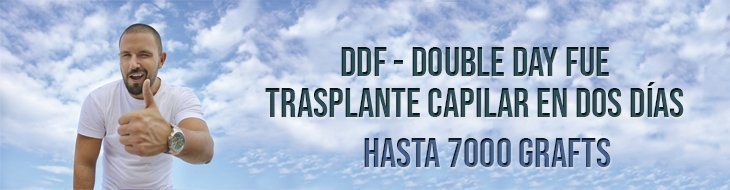 banner DDF double day hair trasplant FUE
