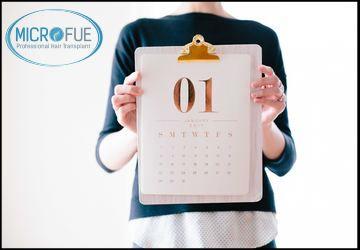 calendario de un trasplante capilar