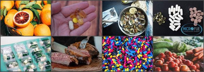 vitaminas y alimentos saludables para el pelo